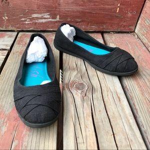 Blowfish Black Cloth Ballet Flats Size 7.5